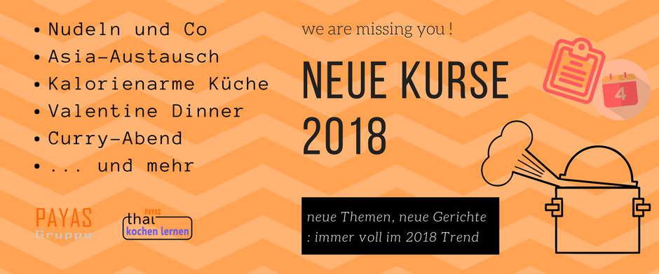 🎊 Neue Kurse für 2018